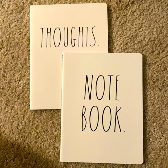 Rae Dunn's set of two notebooks